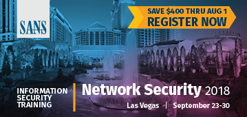 Network Security 2018 - Las Vegas