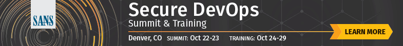 Secure DevOps Summit and Training 2018 - Denver