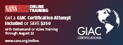 Get a GIAC Certification Attempt Included with Online Training Courses