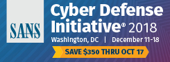 Cyber Defense Initiative 2018 - DC