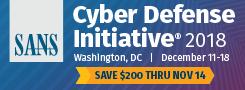 Cyber Defense Initiative 2018 - DC