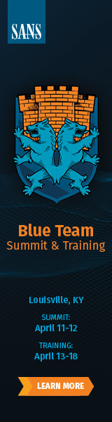 Blue Team Summit and Training 2019 - Louisville
