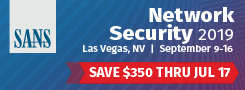 Network Security 2019 - Las Vegas