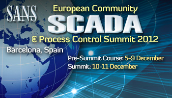 Welcome to EU SCADA & Process Summit 2012