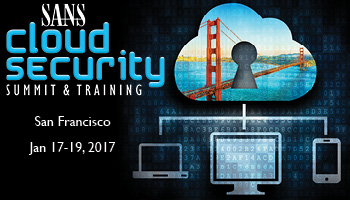 Welcome to the Cloud Security Summit 2017
