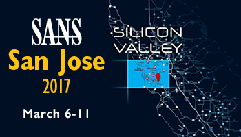 Welcome to  San Jose 2017