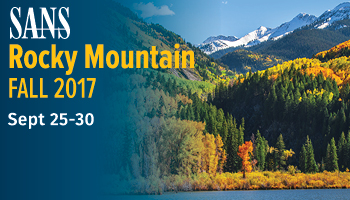 Welcome to Rocky Mountain Fall 2017