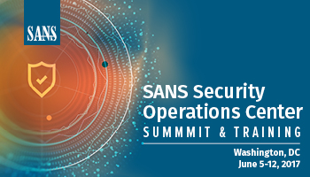 Welcome to Security Operations Center Summit