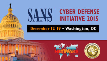 Welcome to  Cyber Defense Initiative<sup>&reg;</sup> 2015