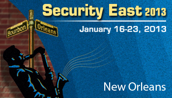 Welcome to  Security East 2013