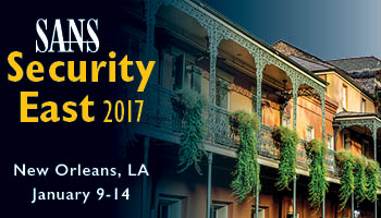 Welcome to  Security East 2017