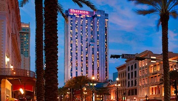 Sheraton New Orleans from Bourbon Street