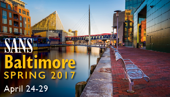 Welcome to  Baltimore Spring 2017