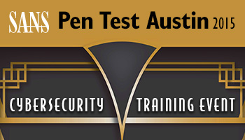 Welcome to  Pen Test Austin 2015