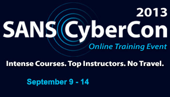 Welcome to CyberCon Fall 2013