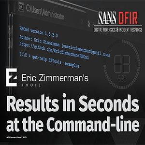 Eric Zimmerman's Results in Seconds at the Command-Line Poster