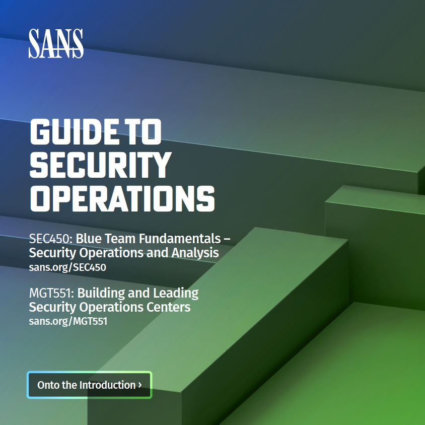 Guide to Security Operations