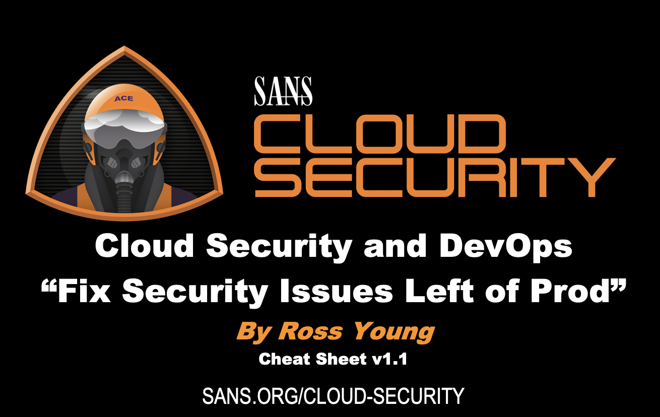Cloud Security and DevOps Cheat Sheet