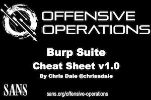 Burp Suite Cheat Sheet