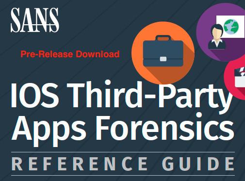 iOS Third-Party Apps Forensics Reference Guide Poster